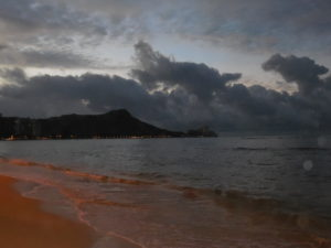 Diamond Head at dawn